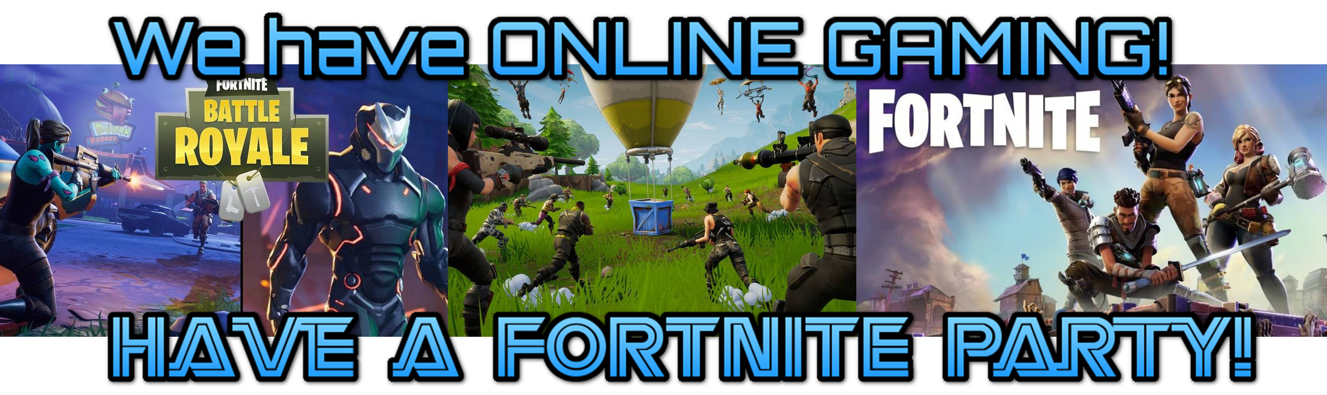 Have a Fortnite or Apex Legends online gaming birthday party in Charleston, Summerville, Mount Pleasant or Moncks Corner, SC