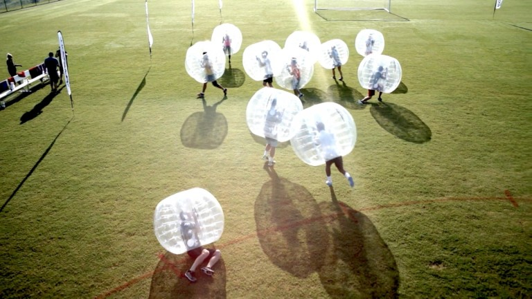 Knocker ball bubble soccer birthday party in Charleston, South Carolina