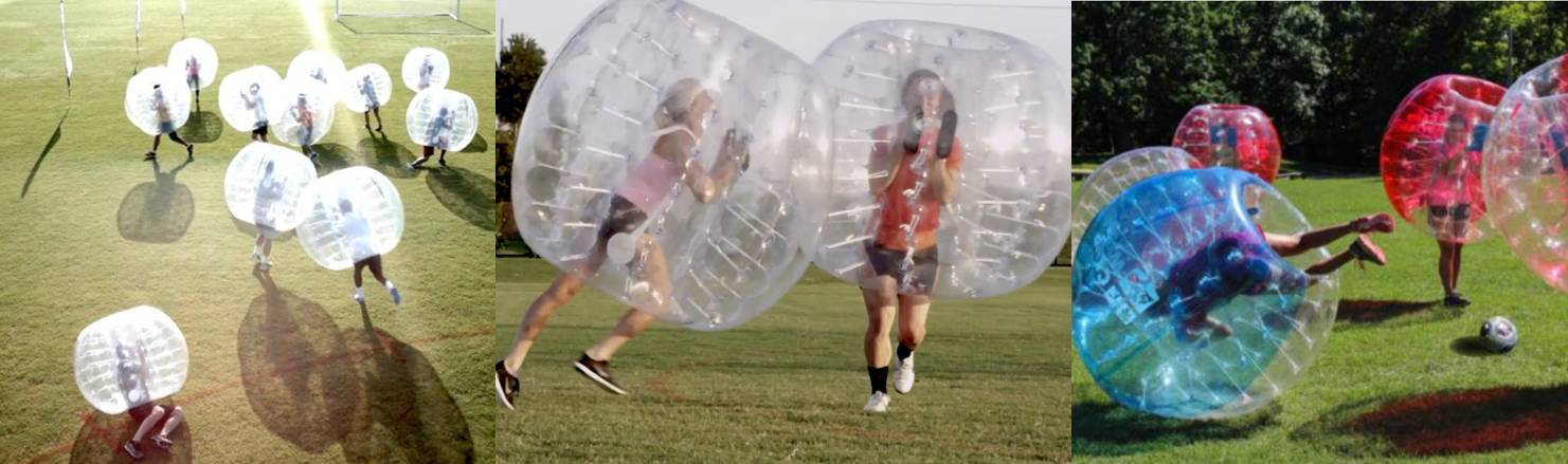 Knockerball bubble soccer birthday party in Charleston South Carolina