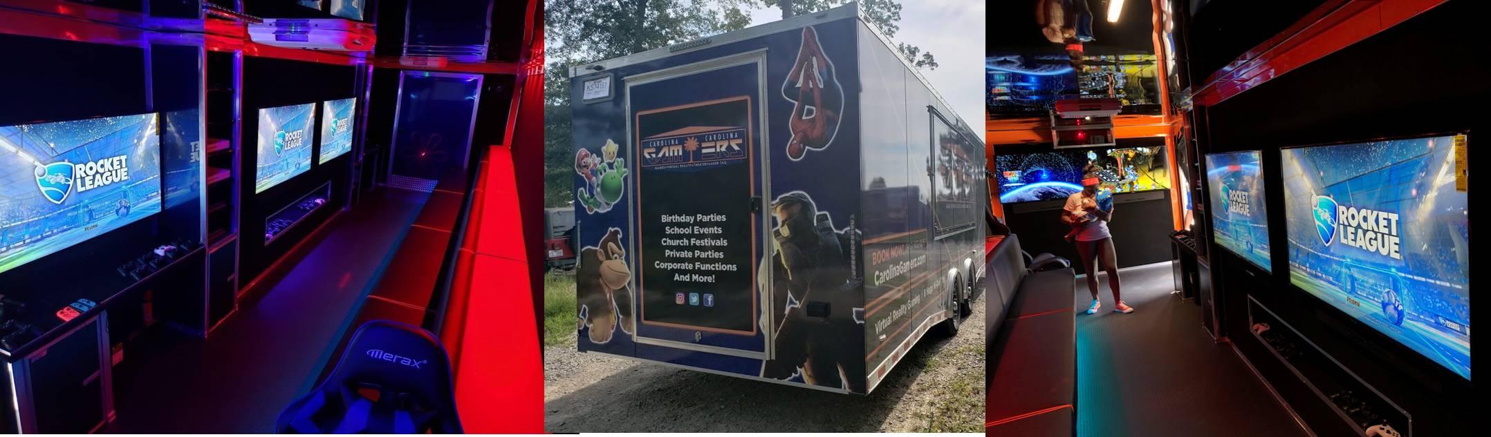 Video game truck, game van in Charleston, South Carolina